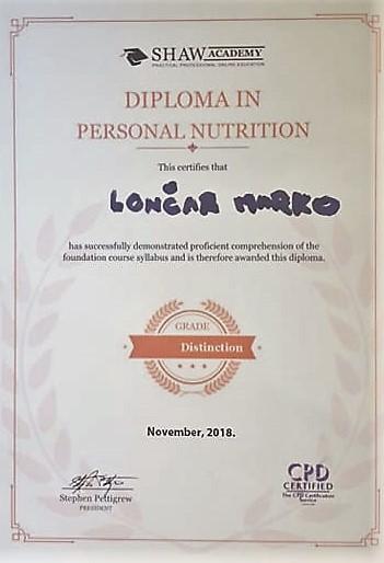diploma - nutricionizam